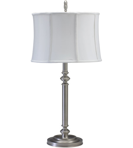 House of Troy CH850-AS Coach 30 inch 100 watt Antique Silver Table Lamp Portable Light photo