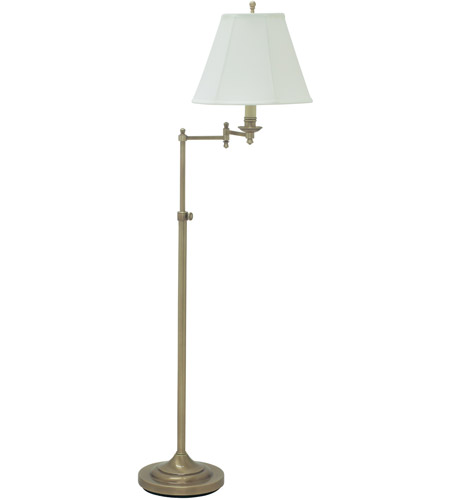 House of Troy Club 1 Light Floor Lamp in Antique Brass CL200-AB photo
