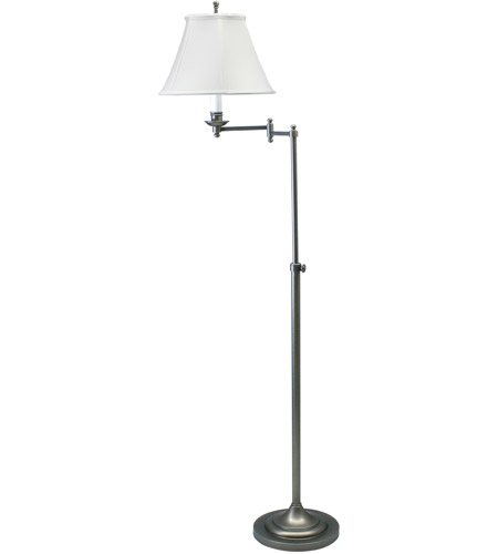 House of Troy CL200-AS Club 45 inch 100 watt Antique Silver Floor Lamp Portable Light photo