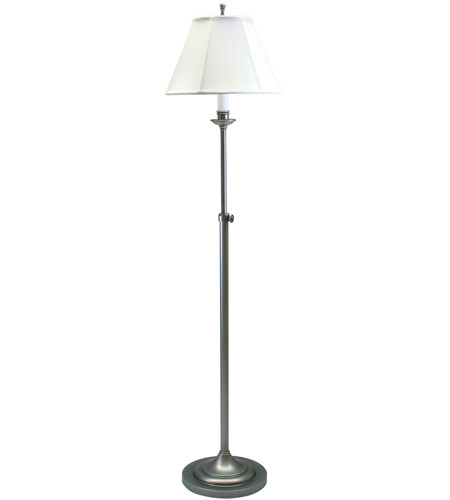 House of Troy CL201-AS Club 45 inch 100 watt Antique Silver Floor Lamp Portable Light photo