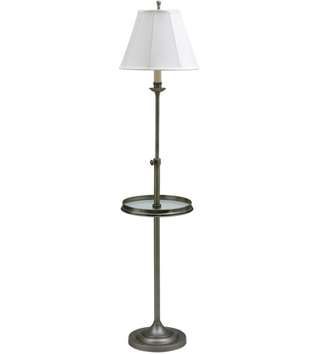 House of Troy CL202-AS Club 45 inch 100 watt Antique Silver Floor Lamp Portable Light photo