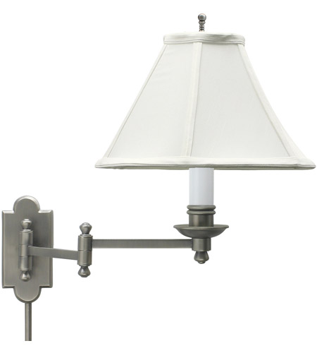 House of Troy CL225-AS Club 12 inch 100 watt Antique Silver Wall Swing Arm Wall Light photo