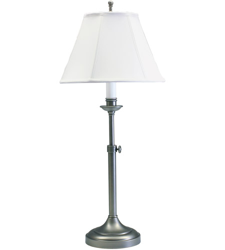 House of Troy CL250-AS Club 25 inch 100 watt Antique Silver Table Lamp Portable Light photo
