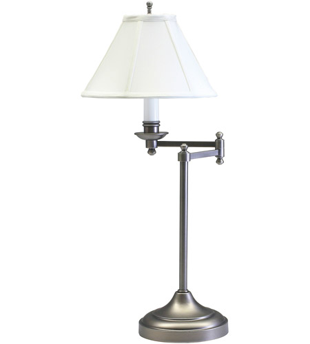 House of Troy CL251-AS Club 25 inch 60 watt Antique Silver Table Lamp Portable Light photo