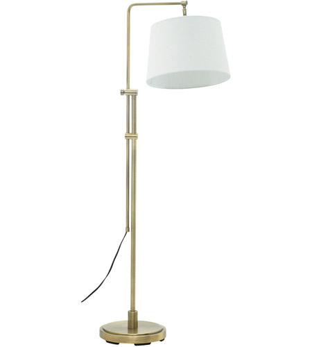 House of Troy CR700-AB Crown Point 38 inch 100 watt Antique Brass Floor Lamp Portable Light photo