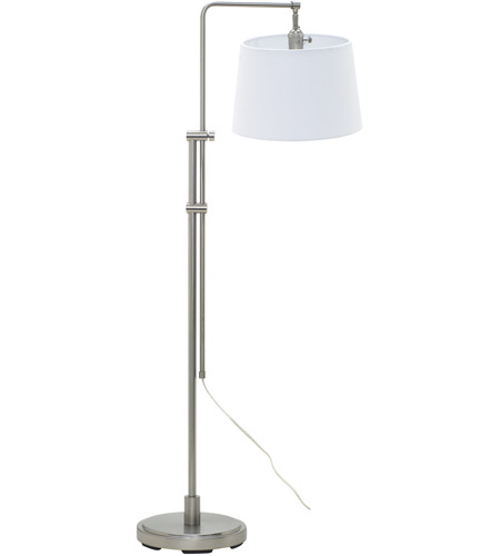 House of Troy CR700-SN Crown Point 38 inch 100 watt Satin Nickel Floor Lamp Portable Light photo