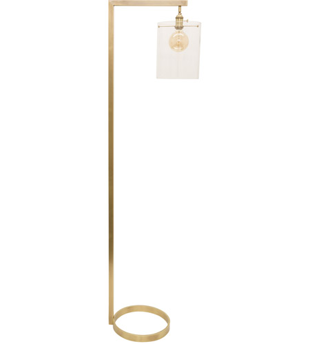 House of Troy D300-AB-G Danby 65 inch 100 watt Antique Brass Floor Lamp Portable Light photo