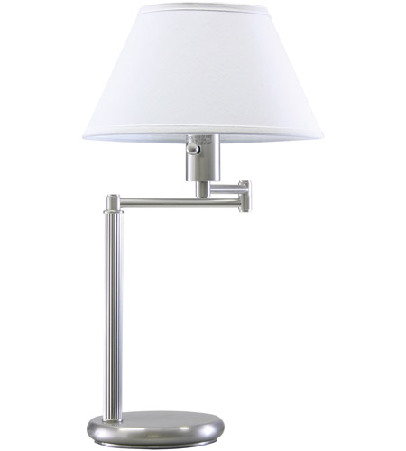 House of Troy D436-52 Home/Office 24 inch 100 watt Satin Nickel Table Lamp Portable Light photo