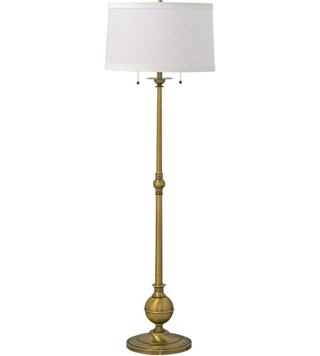 House of Troy E901-AB Essex 57 inch 100 watt Antique Brass Floor Lamp Portable Light photo