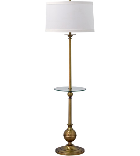 House of Troy E902-AB Essex 56 inch 150 watt Antique Brass Floor Lamp Portable Light photo