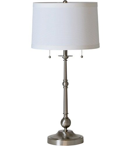 House of Troy E951-SN Essex 30 inch 60 watt Satin Nickel Table Lamp Portable Light photo