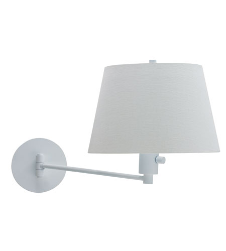 House of Troy Generation 1 Light Swing-Arm Wall Lamp in White G275-WT photo