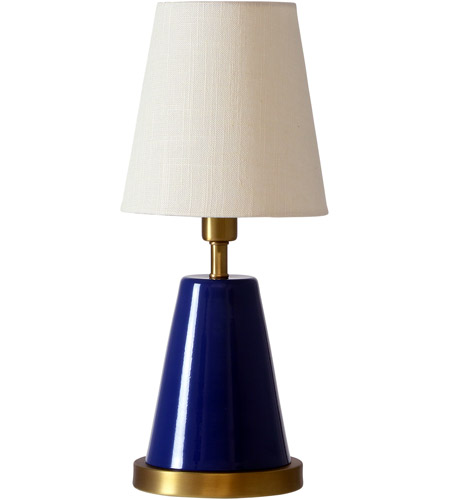 House of Troy GEO409 Geo 13 inch 60 watt Navy Blue/Weathered Brass Mini Accent Lamp Portable Light photo