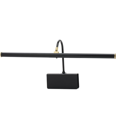 House of Troy GPLED19-7 Grand Piano 5 inch 5.76 watt Black & Brass Piano Lamp Portable Light in Black and Brass photo
