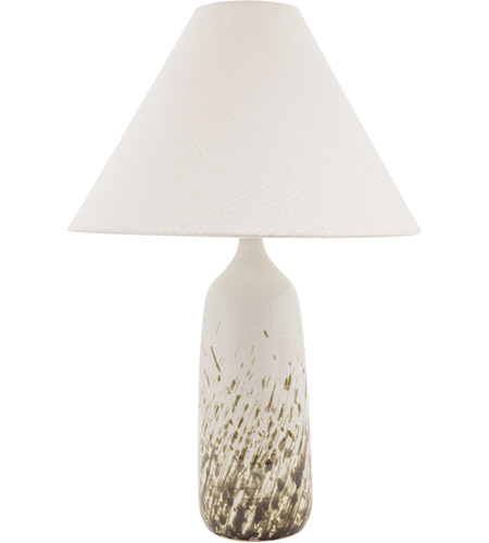 House of Troy GS100-DWG Scatchard 25 inch 150 watt Decorated White Gloss Table Lamp Portable Light photo