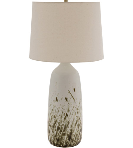 House of Troy GS101-DWG Scatchard 29 inch 150 watt Decorated White Gloss Table Lamp Portable Light photo