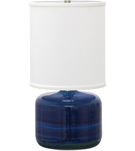House of Troy GS120-BG Scatchard 20 inch 100 watt Blue Gloss Table Lamp Portable Light photo