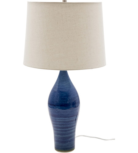House of Troy GS170-BG Scatchard 27 inch 150 watt Blue Gloss Table Lamp Portable Light photo