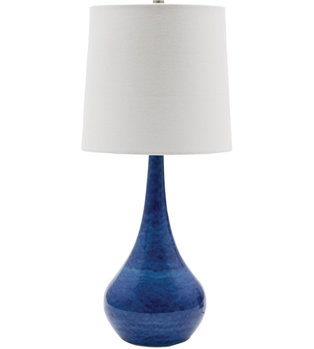 House of Troy GS180-BG Scatchard 23 inch 100 watt Blue Gloss Table Lamp Portable Light photo