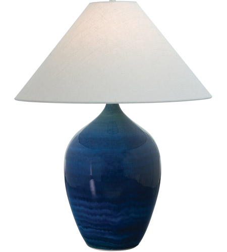 House of Troy GS190-BG Scatchard 27 inch 150 watt Blue Gloss Table Lamp Portable Light photo