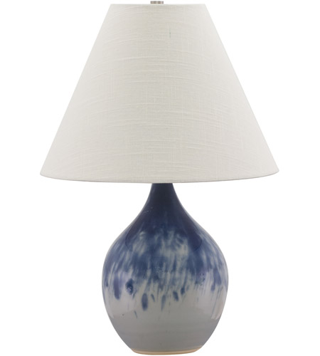 House of Troy GS200-DG Scatchard 19 inch 100 watt Decorated Gray Table Lamp Portable Light photo