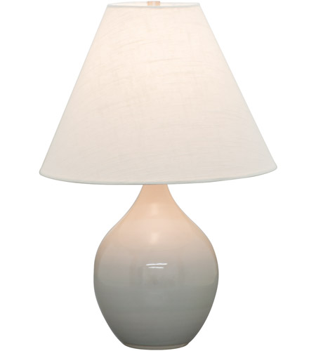 House of Troy GS200-GG Scatchard 19 inch 100 watt Gray Gloss Table Lamp Portable Light photo