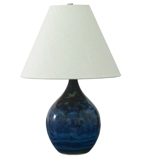 House of Troy GS200-MID Scatchard 19 inch 100 watt Midnight Blue Table Lamp Portable Light photo