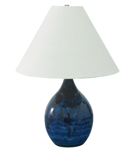 House of Troy GS300-MID Scatchard 24 inch 100 watt Midnight Blue Table Lamp Portable Light in 23.5 photo