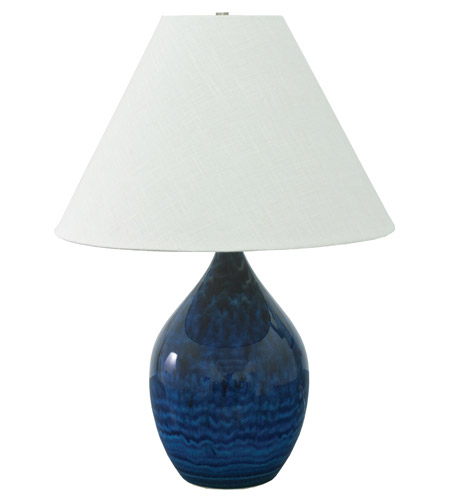 House of Troy GS400-MID Scatchard 28 inch 250 watt Midnight Blue Table Lamp Portable Light photo