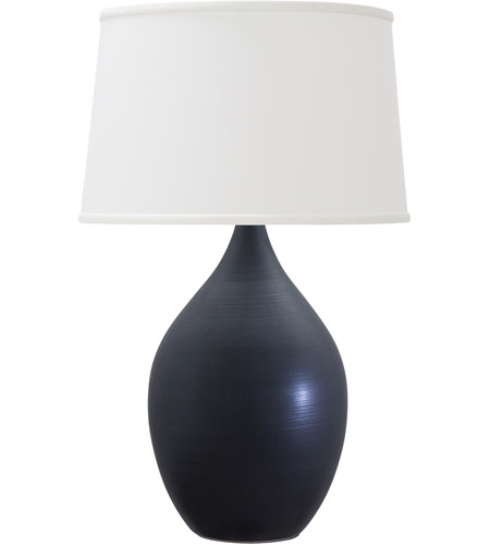 House of Troy GS402-BM Scatchard 25 inch 200 watt Black Matte Table Lamp Portable Light photo