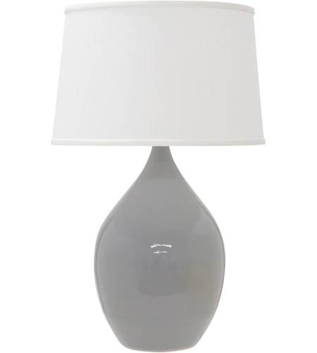 House of Troy GS402-GG Scatchard 25 inch 200 watt Gray Gloss Table Lamp Portable Light photo