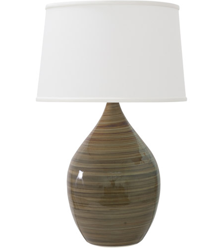 House of Troy GS402-TE Scatchard 25 inch 200 watt Tigers Eye Table Lamp Portable Light in Tiger's Eye photo