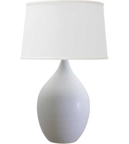 House of Troy GS402-WM Scatchard 25 inch 200 watt White Matte Table Lamp Portable Light photo