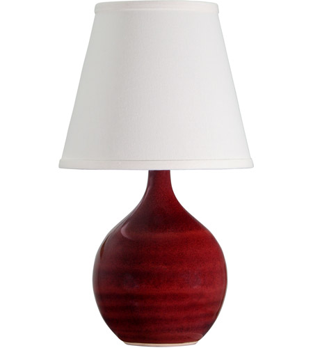 House of Troy GS50-CR Scatchard 14 inch 150 watt Copper Red Mini Accent Lamp Portable Light photo