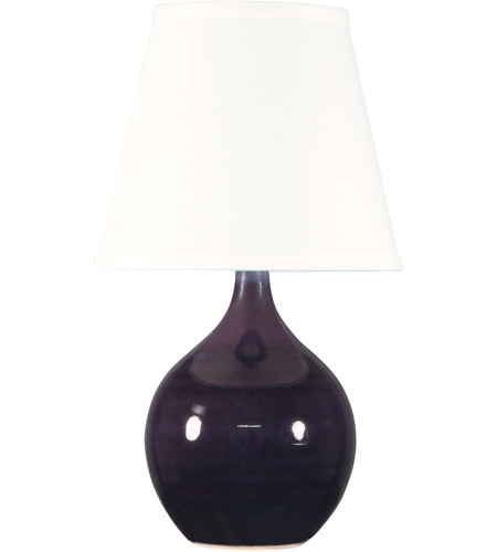 House of Troy GS50-EG Scatchard 14 inch 150 watt Eggplant Mini Accent Lamp Portable Light photo