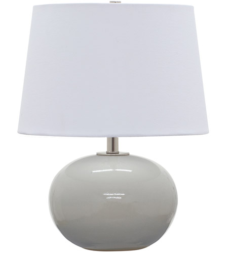 House of Troy GS600-GG Scatchard 17 inch 100 watt Gray Gloss Table Lamp Portable Light photo