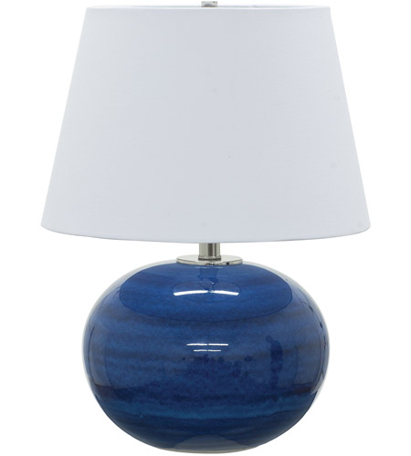 House of Troy GS700-BG Scatchard 22 inch 100 watt Blue Gloss Table Lamp Portable Light photo