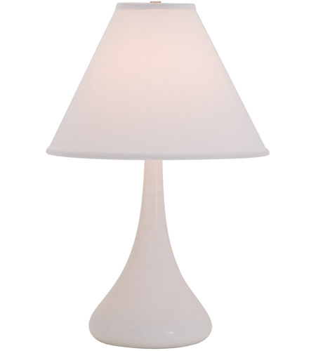House of Troy GS800-WM Scatchard 23 inch 100 watt White Matte Table Lamp Portable Light photo