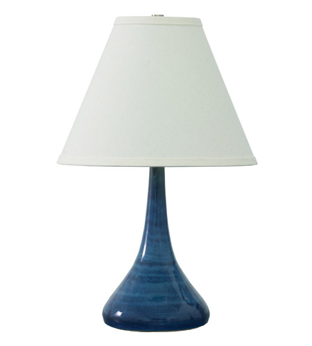 House of Troy GS802-BG Scatchard 19 inch 100 watt Blue Gloss Table Lamp Portable Light photo