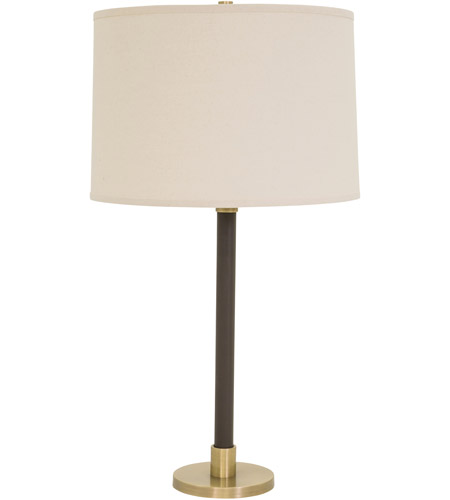 House of Troy H553-AB Hardwick 32 inch 150 watt Antique Brass with Brown Leather Table Lamp Portable Light photo