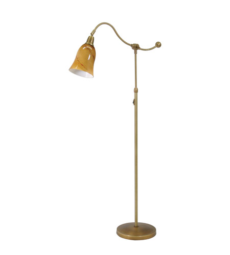 House of Troy Hyde Park 1 Light Floor Lamp in Weathered Brass HP700-WB-AG photo