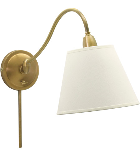 House of Troy HP725-WB-WL Hyde Park 14 inch 100 watt Weathered Brass Wall Swing Arm Wall Light in White photo