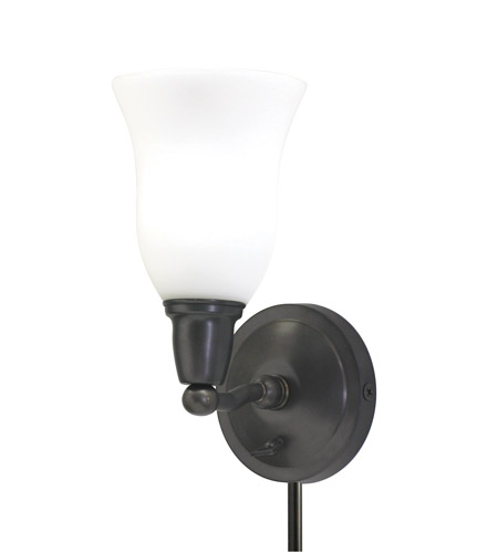 House of Troy Hyde Park 1 Light Wall Lamp in Oil Rubbed Bronze HP775-OB-OG photo