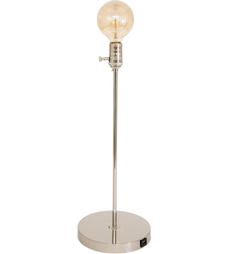 House of Troy IR751-PN Ira 21 inch 60 watt Polished Nickel Adjustable Table Lamp Portable Light photo