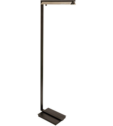 House of Troy JLED500-BLK Jay 52 inch 4.5 watt Black with Polished Nickel Floor Lamp Portable Light photo