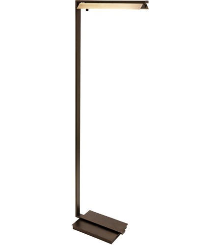 House of Troy JLED500-CHB Jay 52 inch 4.5 watt Chestnut Bronze with Antique Brass Floor Lamp Portable Light photo