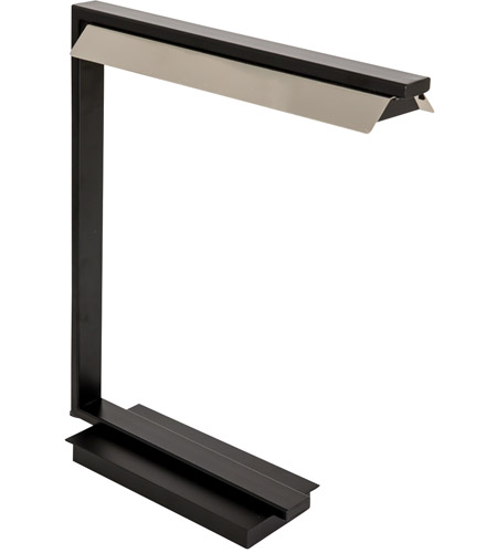 House of Troy JLED550-BLK Jay 19 inch 4.5 watt Black with Polished Nickel Table Lamp Portable Light photo thumbnail