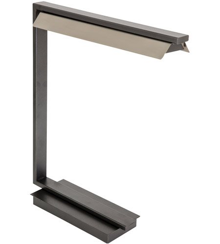 House of Troy JLED550-GT Jay 19 inch 4.5 watt Granite with Satin Nickel Table Lamp Portable Light photo