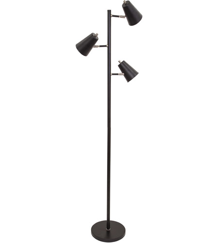 House of Troy K130-BLK Kirby 64 inch 6.2 watt Black Floor Lamp Portable Light photo