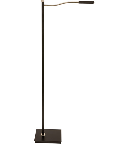 House of Troy LEW800-BLK Lewis 52 inch 6.8 watt Black with Satin Nickel Floor Lamp Portable Light photo